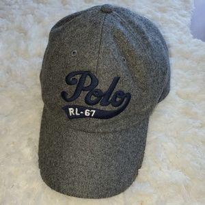 Polo Ralph Lauren grey wool blend baseball cap